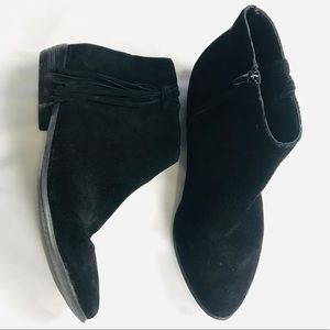 Coconuts Matisse Black Leather Ankle Booties Boots